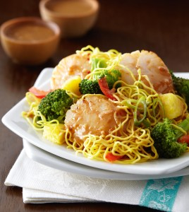Pineapple Scallop Stir-Fry with Coconut Hoisin Sauce