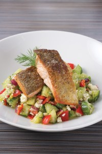Salmon Trout w/ Cucumber Salsa