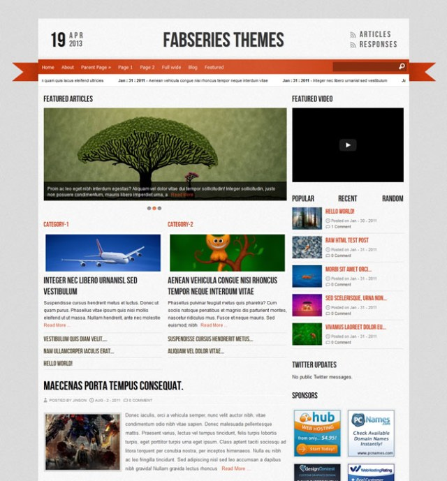 magazine wordpress themes Reporter