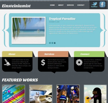 Einsteiniumist free business wordpress themes