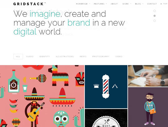 gridstack portfolio wordpress theme