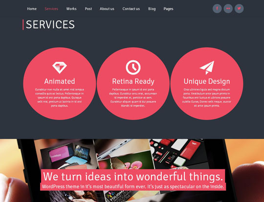 ronika portfolio wordpress theme