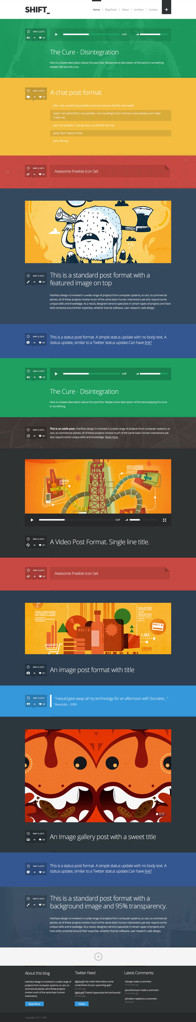 shift tumblog wordpress theme