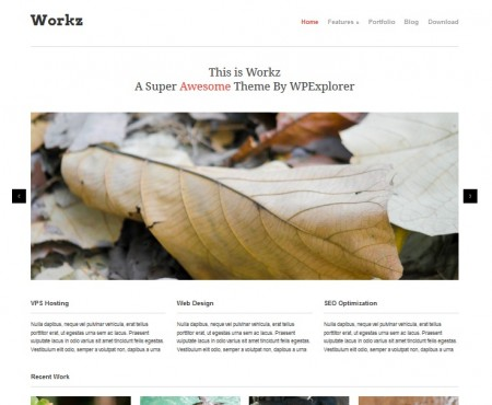 workz business wordpress theme