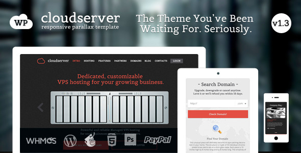 cloudserver wordpress theme