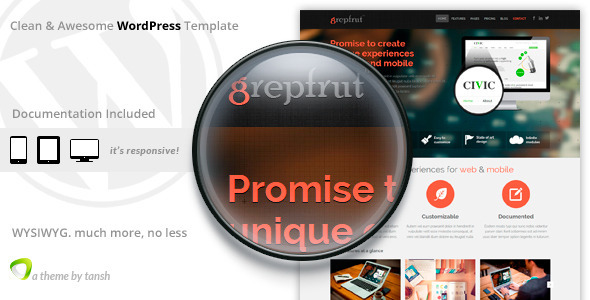 grepfrut wordpress theme