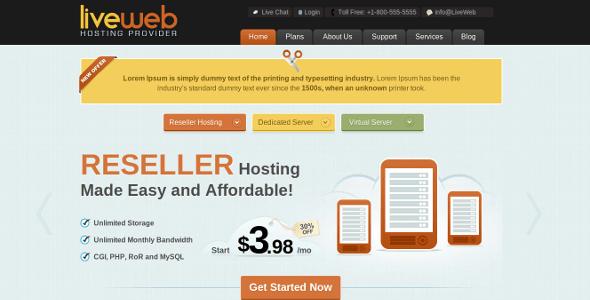 liveweb wordpress theme