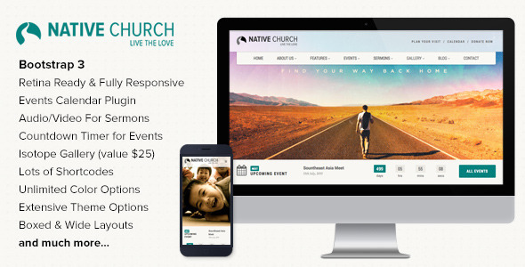 native church wordpress theme