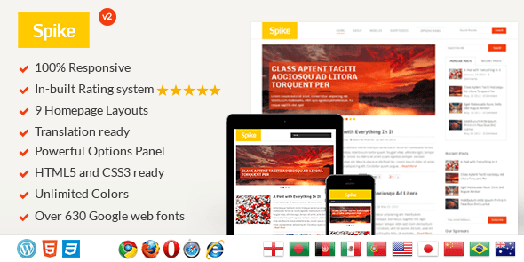 spike wordpress theme