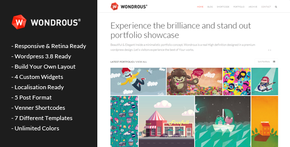 wondrous wordpress theme