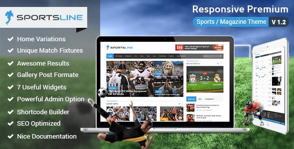 sportsline wordpress theme