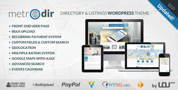 metrodir wordpress theme