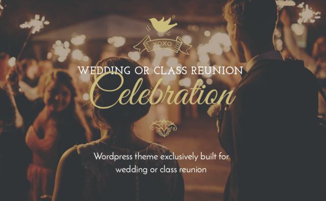 celebration wp theme for weddings