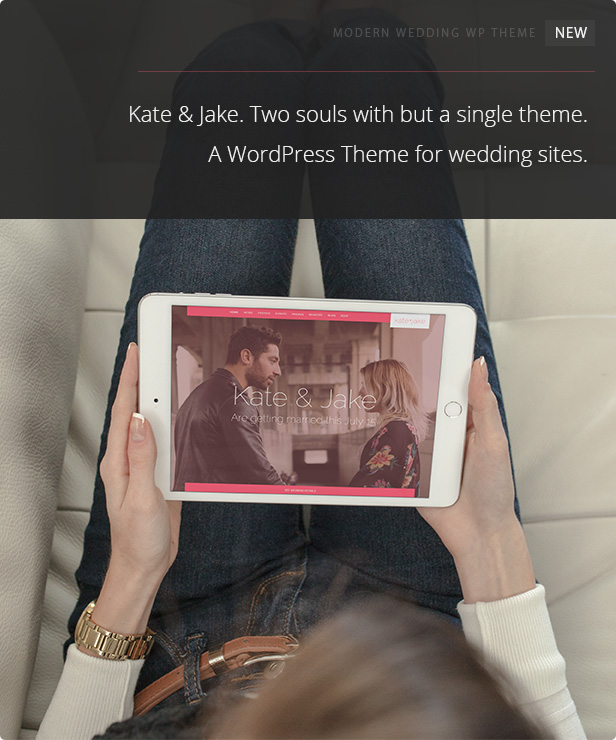 kate + jake wordpress theme for weddings