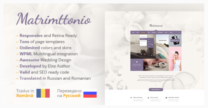 matrimonio wedding wordpress theme