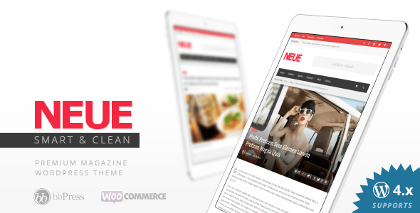 neue smart modern WordPress theme