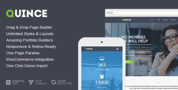 quince modern wordpress theme