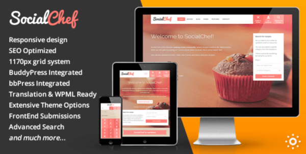 social chef wordpress social theme