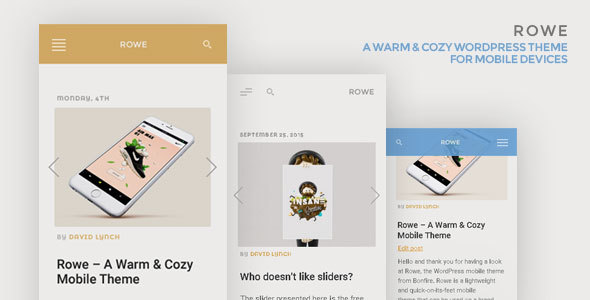 rowe mobile template