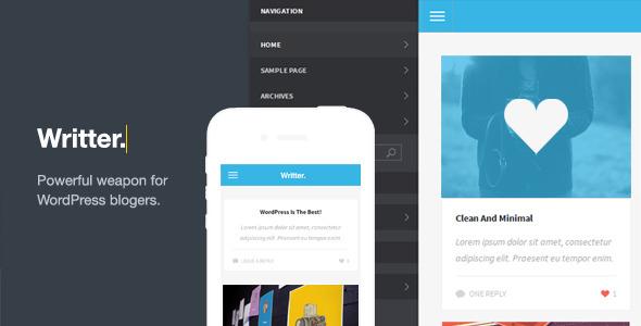 writter modern mobile template