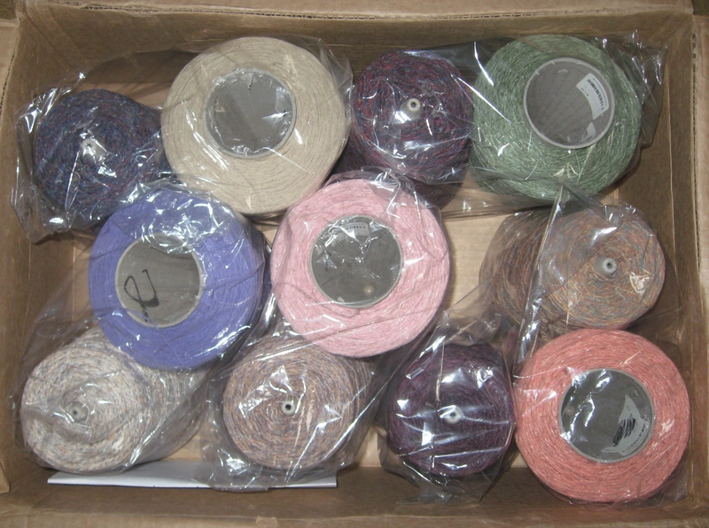 11 cones of cotton/rayon flax yarn for my next project