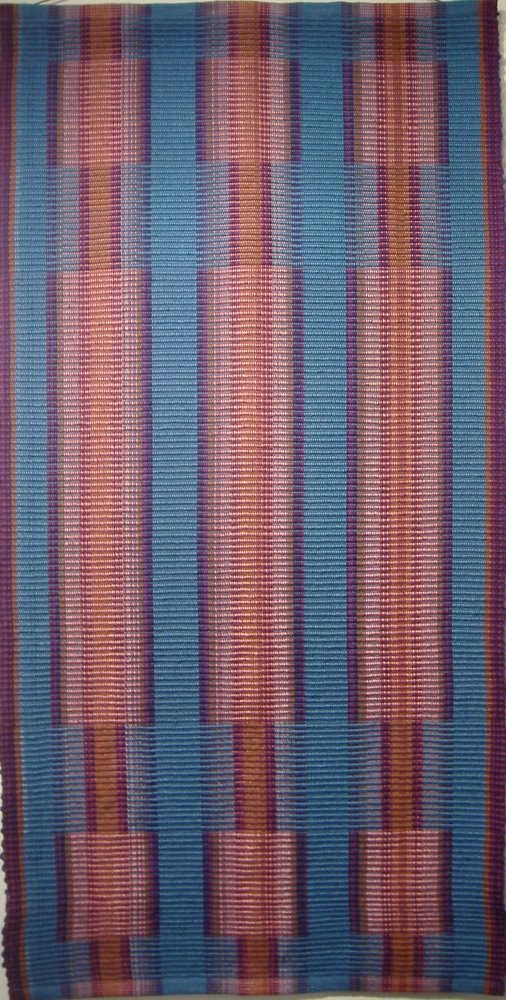 Untitled handwoven wall rug, woven in rep weave