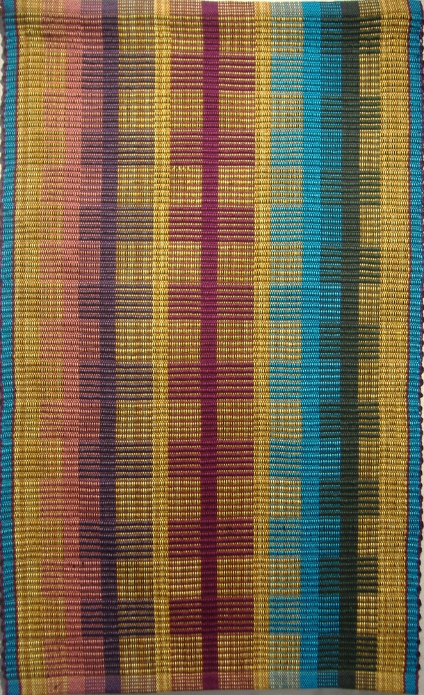 """""""Nesting"""" handwoven wall rug woven in rep weave"""