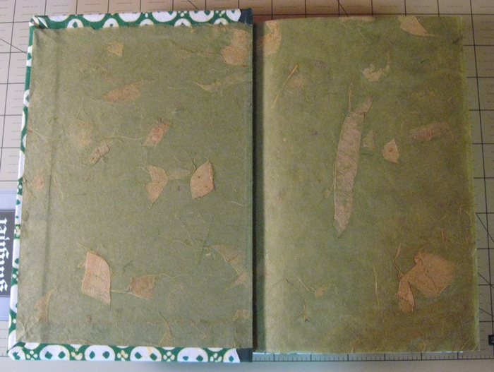 Inside cover and end page of Thai mango paper