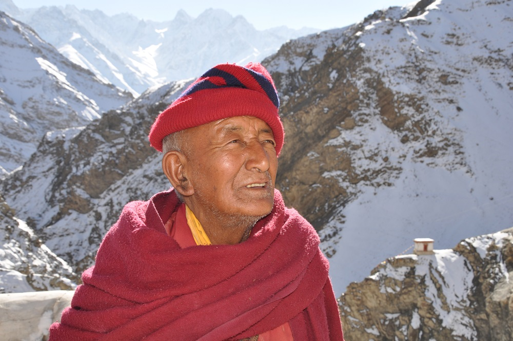 Portrait, Old Monk, Ladakh