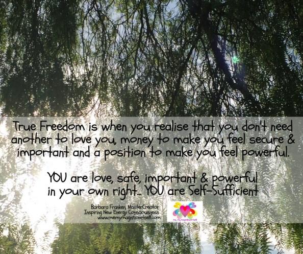 True Freedom...