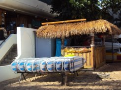 Surfboards and lessons for hire