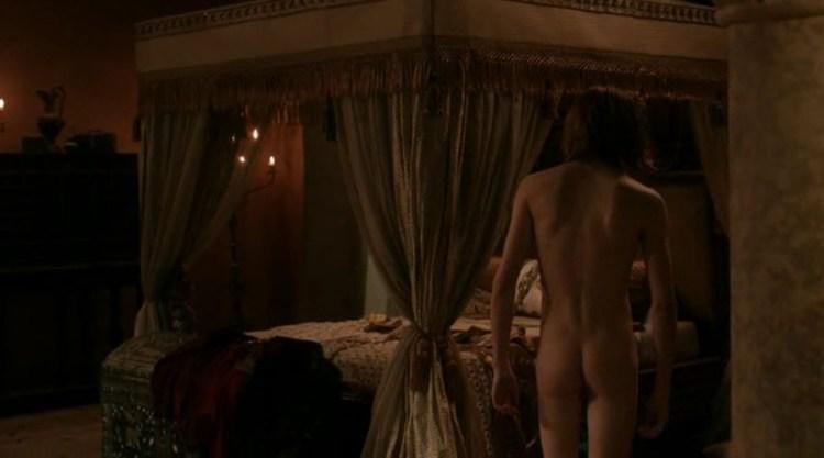 Lancel Lannister's (Eugene Simon) back