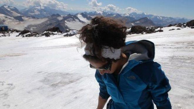 Saudi woman mountain climber