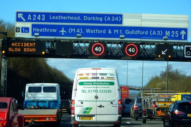Held up on the M25 Stuck in a Jam