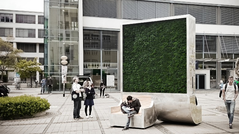 """A """"City Tree"""" that is like a Green Wall"""