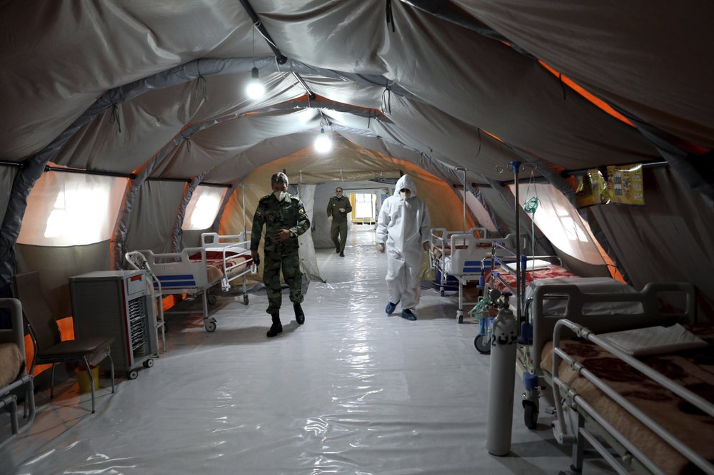 Iran's army sets up hospital in capital as virus toll climbs