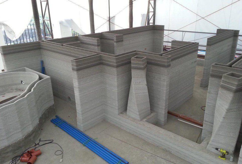 3D-printed Buildings from Soil