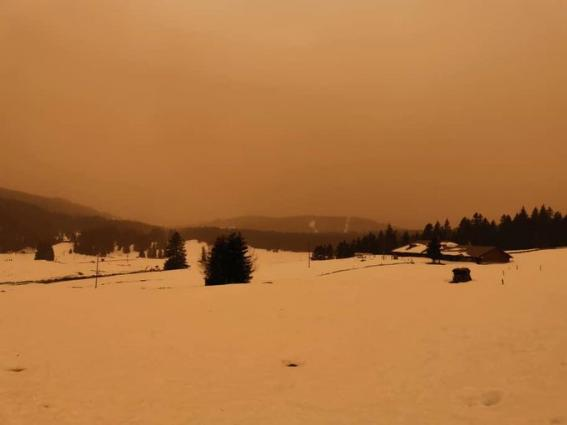 Sand and dust storm impacts Europe