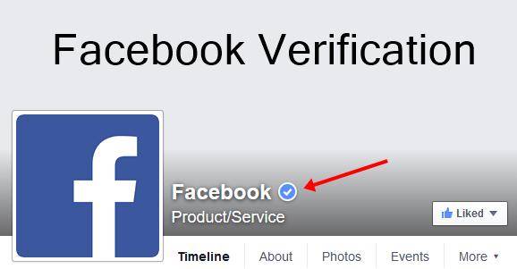 توثيق صفحتك على فيسبوك