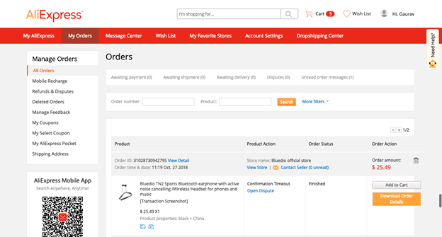 How to Get Invoice For Orders Placed on AliExpress