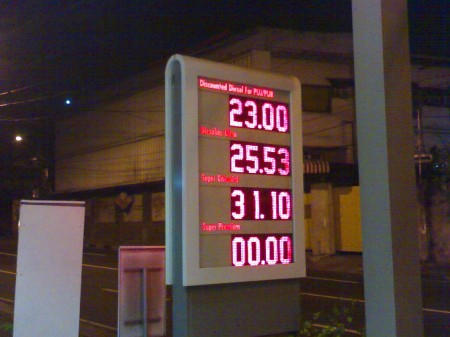 Unleaded-Gasoline-Price-End-of-March-2009