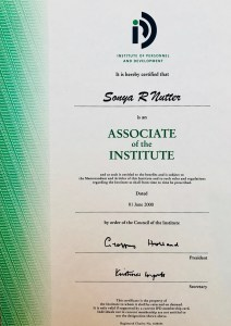 Sonya Wilkins IPD Associate Certificate