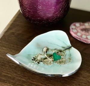 Lilac Leaf Ceramic Trinket Dish