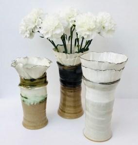 Porcelain Sonoran Vases by Sonya Ceramic Art