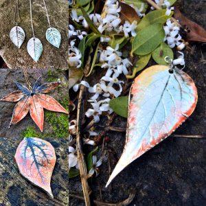 Sonya Ceramic Art Leaf Jewellery Examples