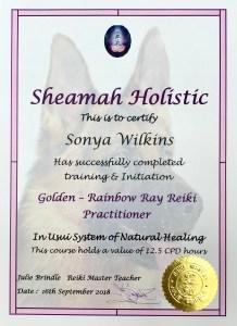 Golden Rainbow Ray Reiki Practitioner Sonya Wilkins