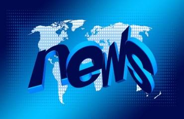 Image: news superimposed on world map