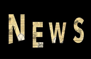 Image: news, font composed of old newsprint