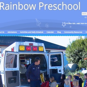 Image: Rainbow Preschool Mendocino website