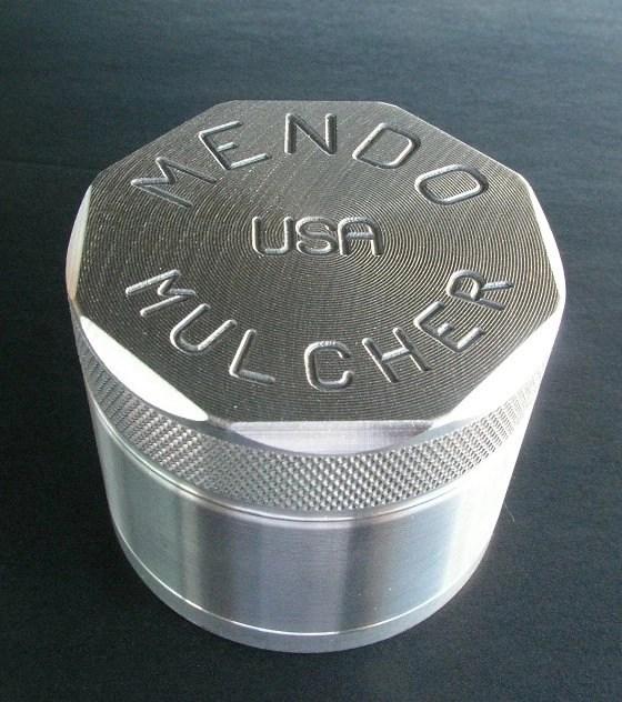 """Mendo Mulcher 2.25"""" (inch) 4-Piece Screened Herb Grinder"""
